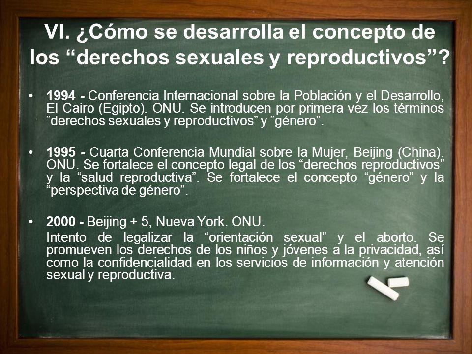 VI. ¿Cómo se desarrolla el concepto de los derechos sexuales y reproductivos? 1994 - Conferencia Internacional sobre la Población y el Desarrollo, El