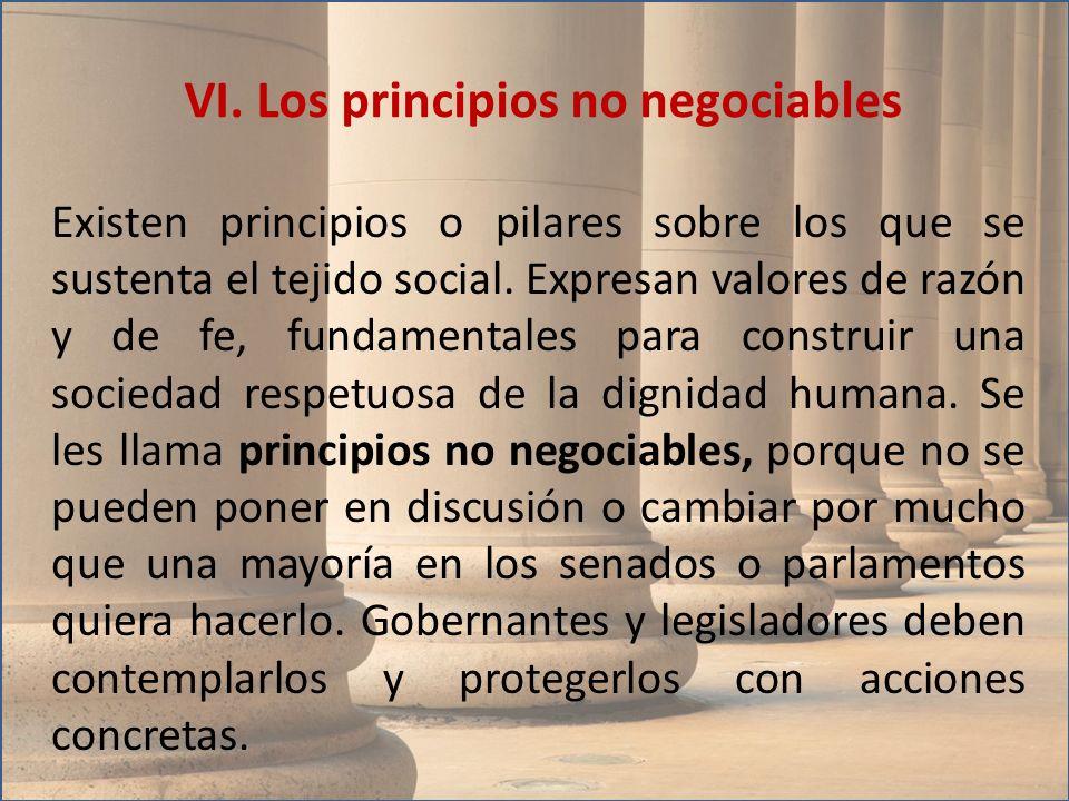 Existen principios o pilares sobre los que se sustenta el tejido social. Expresan valores de razón y de fe, fundamentales para construir una sociedad