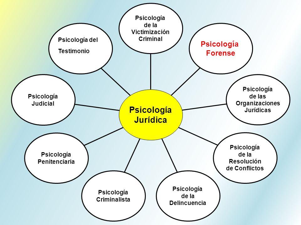 Psicología del Testimonio Psicología Judicial Psicología Penitenciaria Psicología Criminalista Psicología de la Delincuencia Psicología de la Resoluci