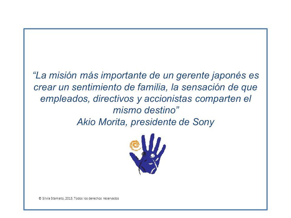 La misión más importante de un gerente japonés es crear un sentimiento de familia, la sensación de que empleados, directivos y accionistas comparten e