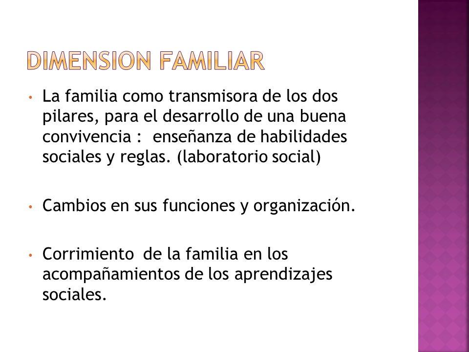 La familia como transmisora de los dos pilares, para el desarrollo de una buena convivencia : enseñanza de habilidades sociales y reglas. (laboratorio