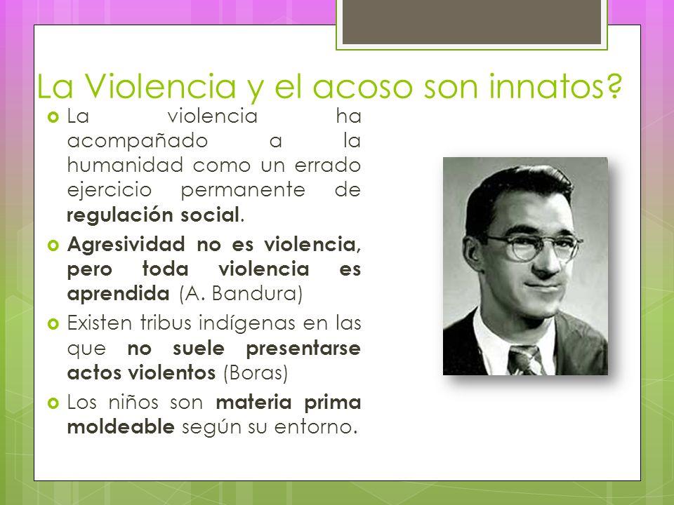 La Violencia y el acoso son innatos.