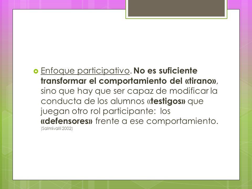 Enfoque participativo.