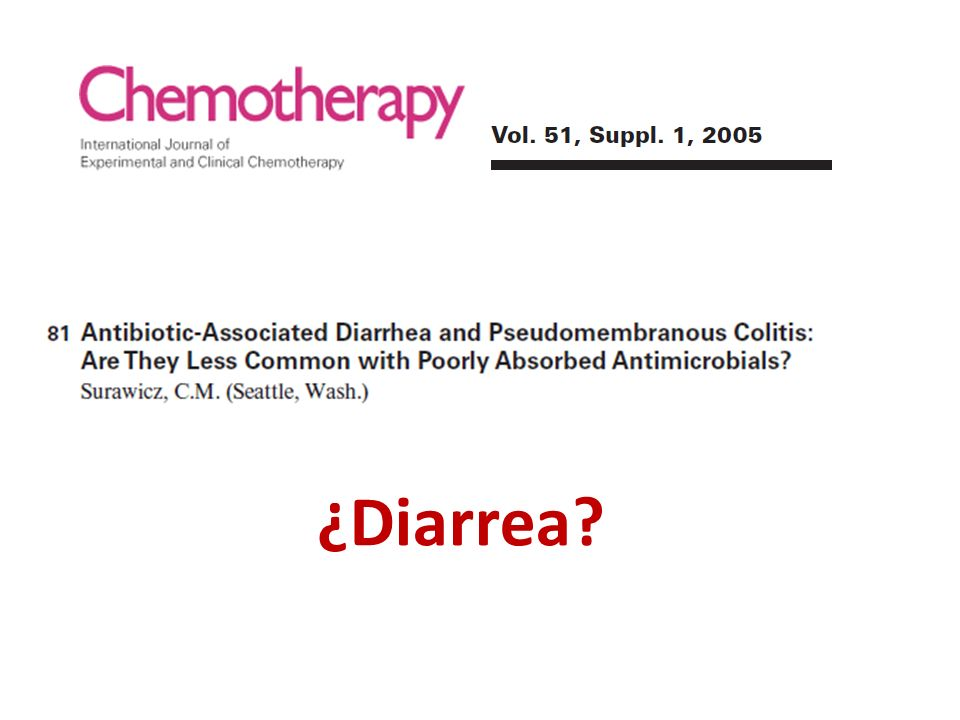 ¿Diarrea?