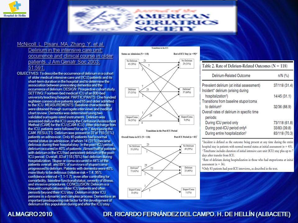PATOGÉNESIS CAUSAS MÁS COMUNES DE DELIRIUM Y SÍNDROME CONFUSIONAL: Fármacos y toxinas: Bajo prescripción médica (opiodes, hipnóticos-sedantes, antipsicóticos, litio, relajantes musculares) Sin prescripción médica (antihistaminicos).