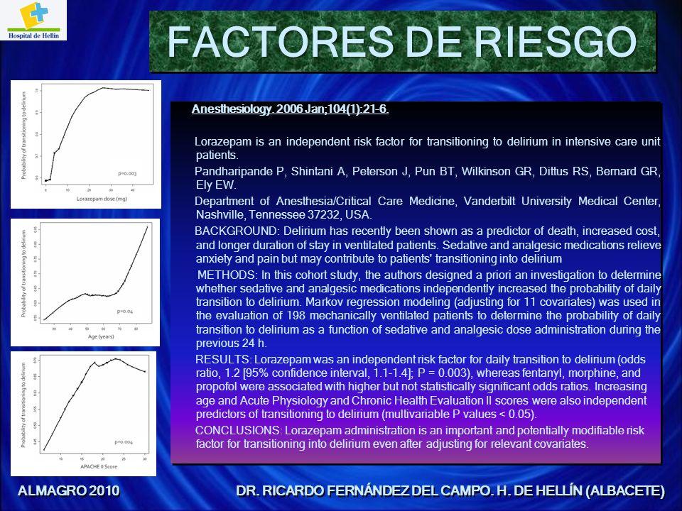 CAUSAS Y FACTORES DE RIESGO El delirium es una enfermedad multifactorial: La edad y enfermedades neurodegenerativas.