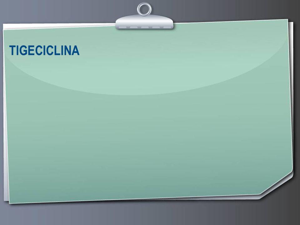 Page 10 Tigeciclina Protección ribosómica Bombas de eflujo de macrólidos y tetraciclinas Alteraciones de las PBPs Betalactamasas (incluidas BLEE, metalobetalactamasas y carbapenemasas) Mutaciones de la ADN girasa Mecanismo de acción: Unión a la subunidad ribosómica 30 S Unión 5 veces más potente que la de tetraciclinas En dianas adicionales no descritas No afectada por bombas de eflujo tradicionales
