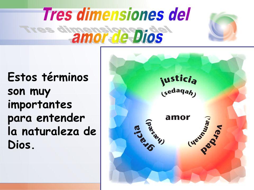 Estos términos son muy importantes para entender la naturaleza de Dios.
