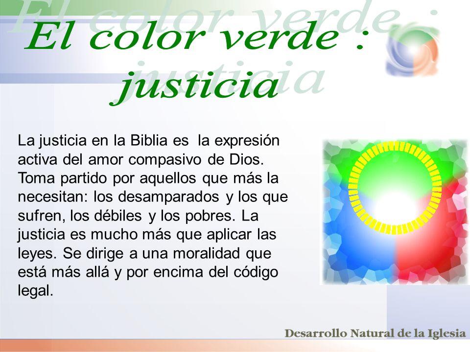 La justicia en la Biblia es la expresión activa del amor compasivo de Dios. Toma partido por aquellos que más la necesitan: los desamparados y los que