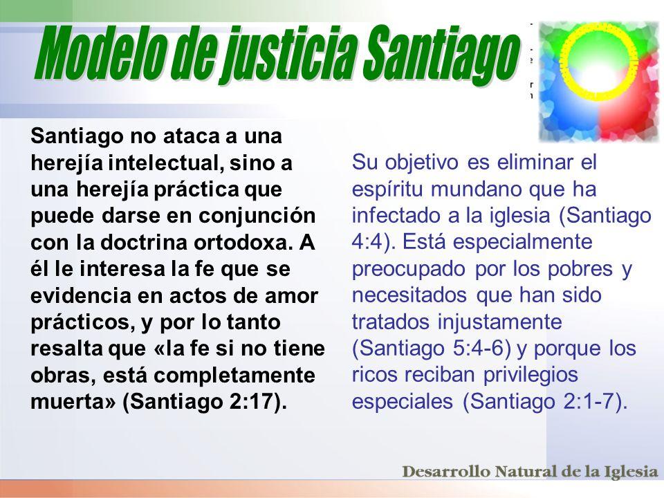 Santiago no ataca a una herejía intelectual, sino a una herejía práctica que puede darse en conjunción con la doctrina ortodoxa. A él le interesa la f