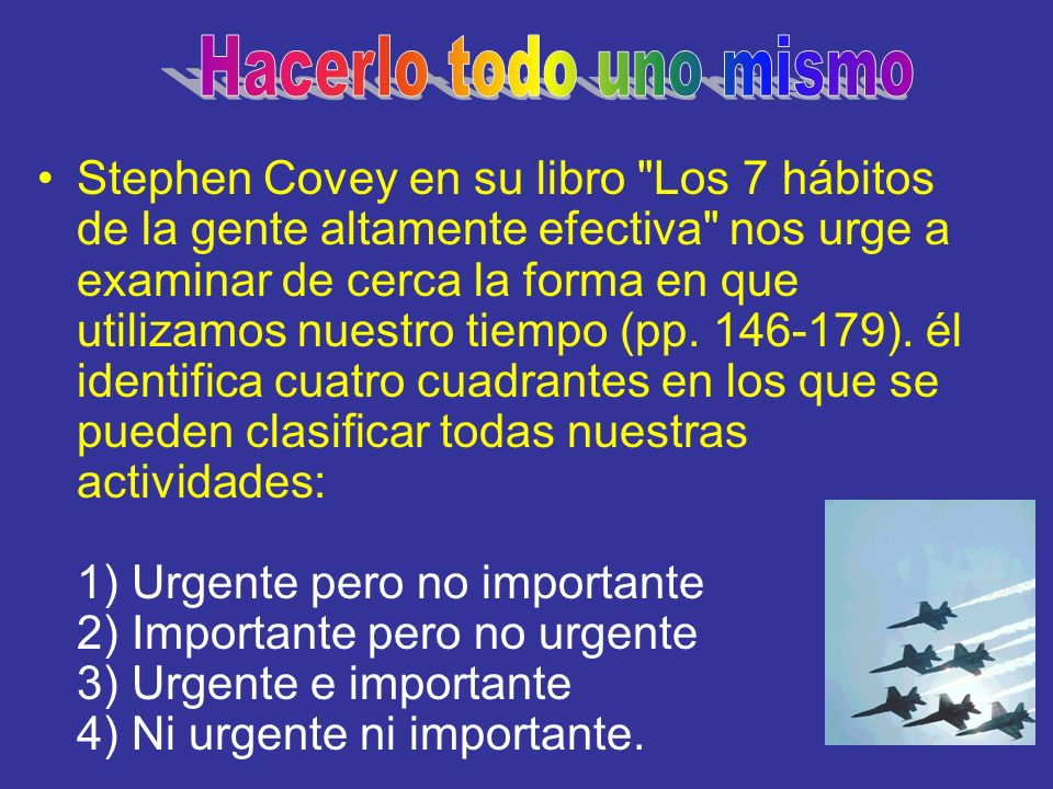 Stephen Covey en su libro