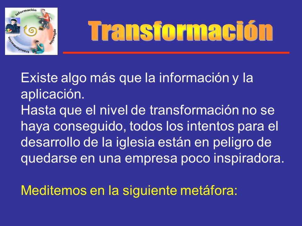 Existe algo más que la información y la aplicación. Hasta que el nivel de transformación no se haya conseguido, todos los intentos para el desarrollo