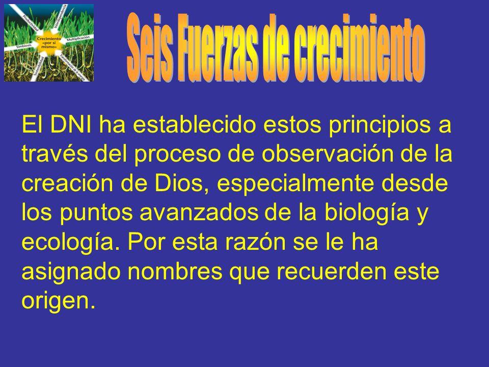 El DNI ha establecido estos principios a través del proceso de observación de la creación de Dios, especialmente desde los puntos avanzados de la biol