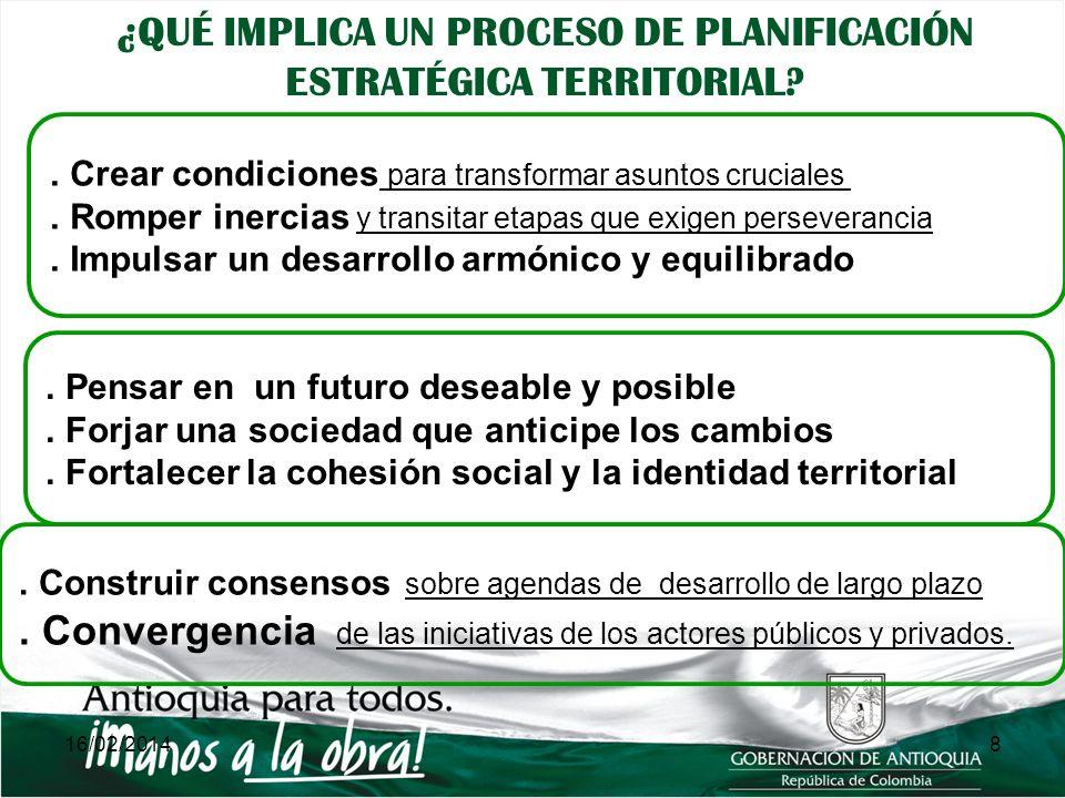 Instrumento de política pública para el Desarrollo Equilibrado de las Subregiones Incorpora el modelo de gestión basado en La Planeación Estratégica y la Prospectiva Territorial (PEPT) 9 Instrumentos para viabilizar la construcción del modelo de desarrollo de Antioquia, visto en su dimensión territorial, y avanzar en la materialización de la Visión de Antioquia LOS PLANES ESTRATÉGICOS SUBREGIONALES SON: