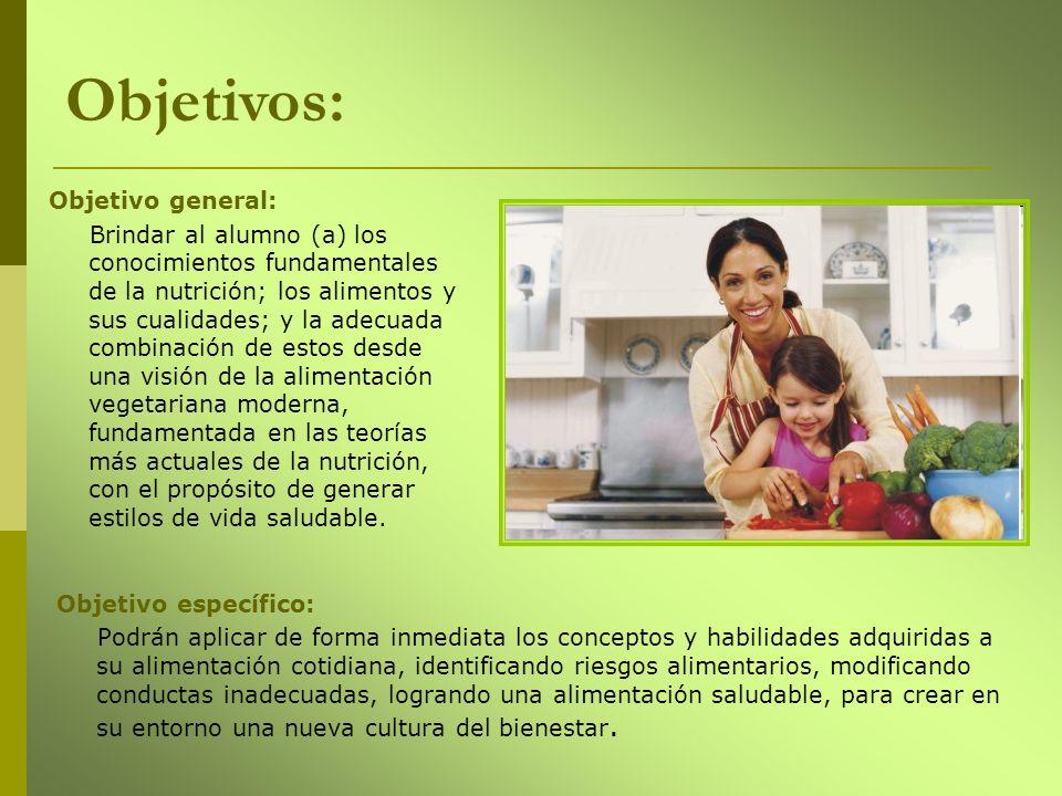 Objetivo específico: Podrán aplicar de forma inmediata los conceptos y habilidades adquiridas a su alimentación cotidiana, identificando riesgos alime