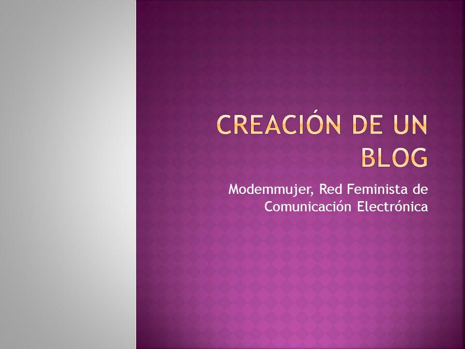 Modemmujer, Red Feminista de Comunicación Electrónica