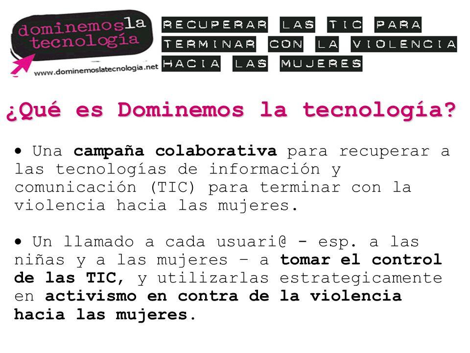 ¿Qué es Dominemos la tecnología? Una campaña colaborativa para recuperar a las tecnologías de información y comunicación (TIC) para terminar con la vi