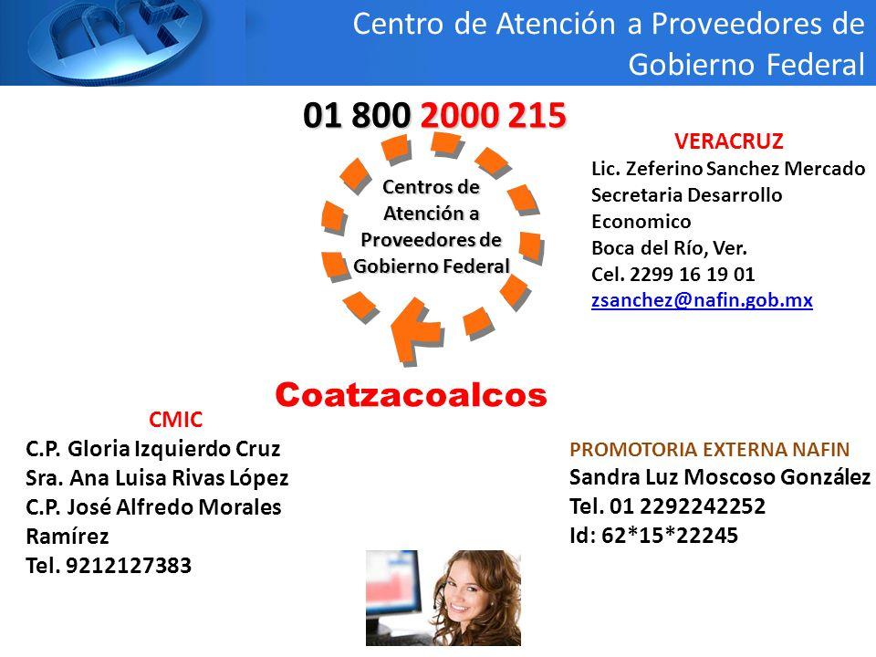 Centros de Atención a Proveedores de Gobierno Federal 01 800 2000 215 Producto Medianas Empresas Centro de Atención a Proveedores de Gobierno Federal