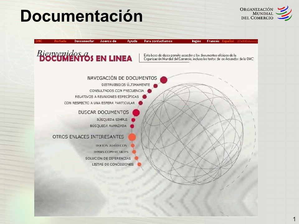 2 En el curso de sus deliberaciones, los distintos órganos de la OMC producen cada año gran cantidad de documentos: Número total de documentos publicados en inglés: Documentos Páginas 1998 5.26353.607 2001 6.40578.267 2004 5.62673.908 2005 6.22270.973 En comparación, durante las negociaciones de la Ronda Uruguay (1986-1994), se distribuyeron 3.638 documentos.