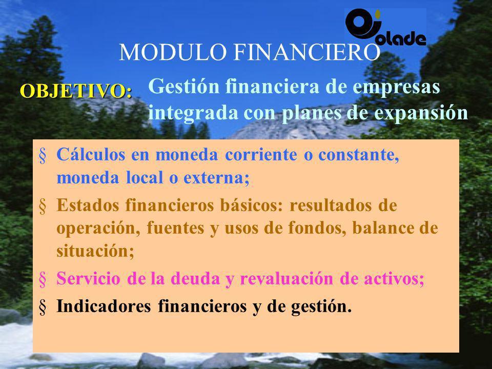 MODULO HIDRO-TERMICO 4Simula la operación del sistema; 4Establece costos marginales de operación; 4Beneficios marginales de transmisión; 4Gradientes de gestión en plantas térmicas; 4Modela contratos de compra-venta de energía.