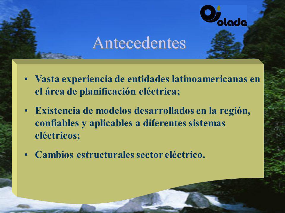 ©Mejorar las herramientas de planificación eléctrica en América Latina y el Caribe; ©Proyecto desarrollado por OLADE, con financiamiento del BID; Antecedentes