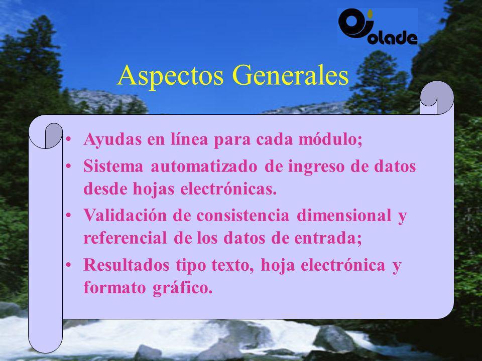 Vasta experiencia de entidades latinoamericanas en el área de planificación eléctrica; Existencia de modelos desarrollados en la región, confiables y aplicables a diferentes sistemas eléctricos; Cambios estructurales sector eléctrico.