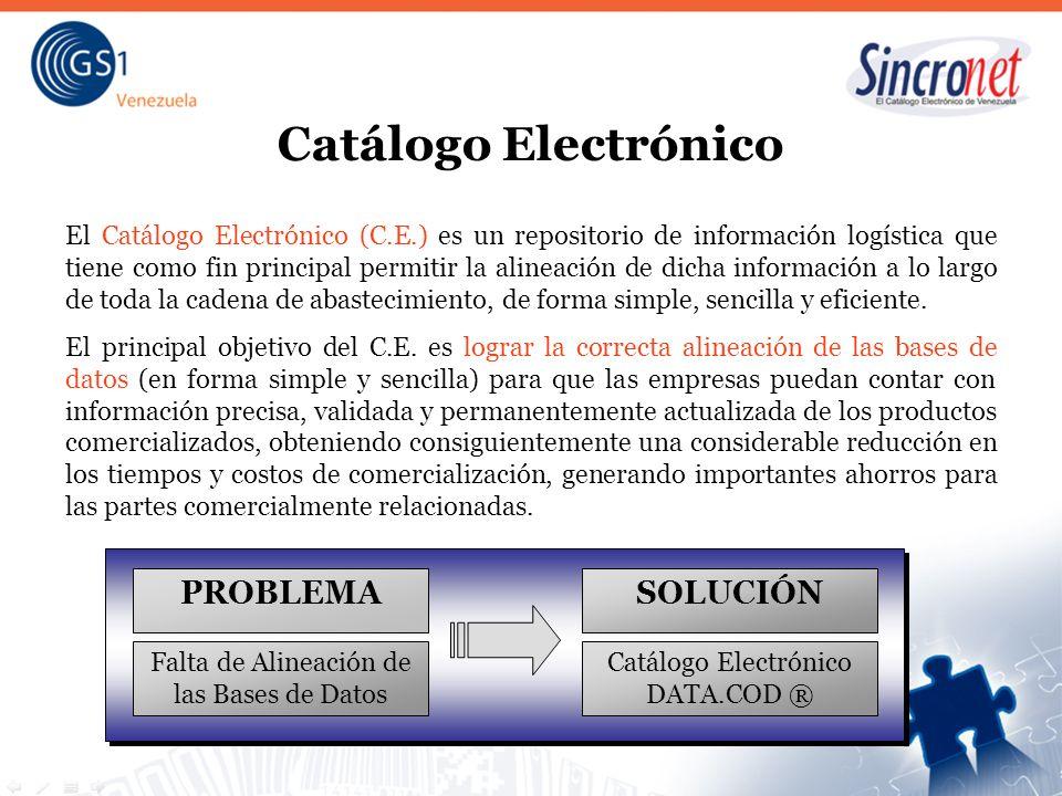 Catálogo Electrónico El Catálogo Electrónico (C.E.) es un repositorio de información logística que tiene como fin principal permitir la alineación de