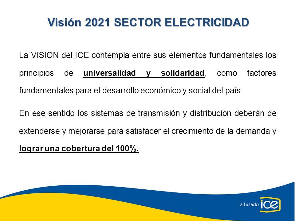 La VISION del ICE contempla entre sus elementos fundamentales los principios de universalidad y solidaridad, como factores fundamentales para el desar