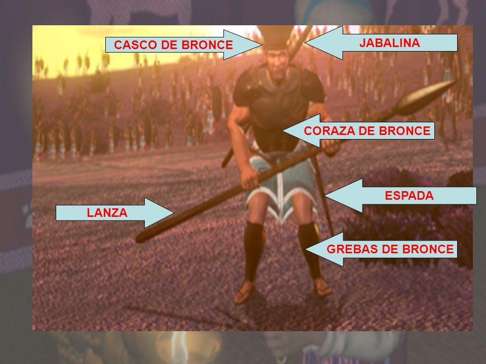 CORAZA DE BRONCE GREBAS DE BRONCE JABALINA ESPADA LANZA CASCO DE BRONCE