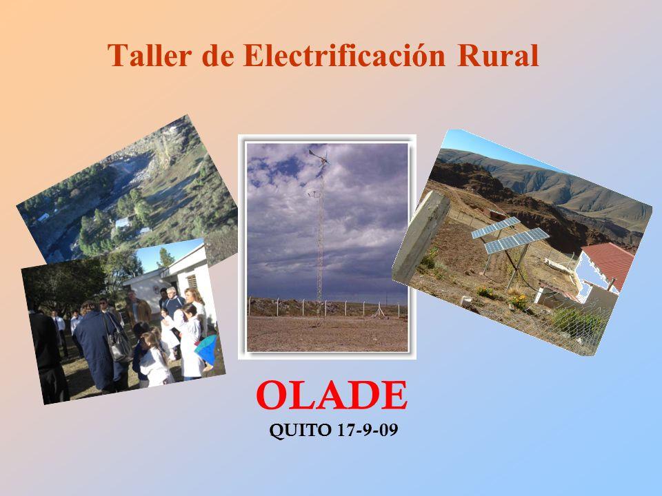 Taller de Electrificación Rural OLADE QUITO 17-9-09