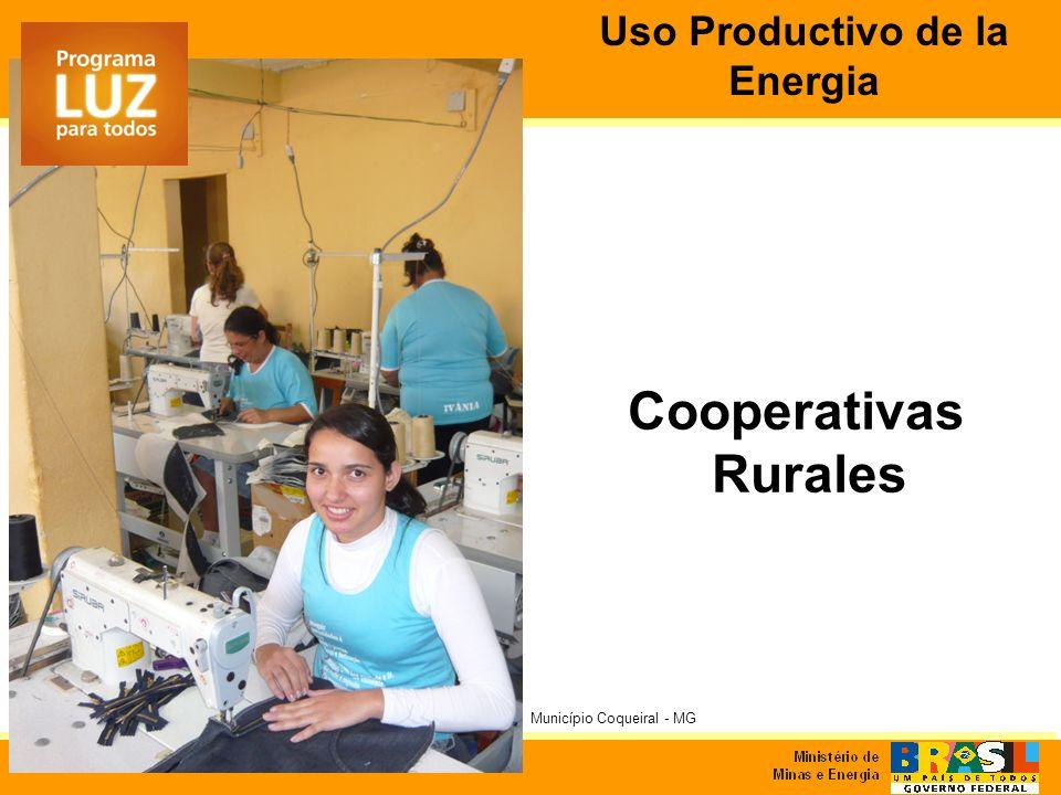 Cooperativas Rurales Município Coqueiral - MG Uso Productivo de la Energia