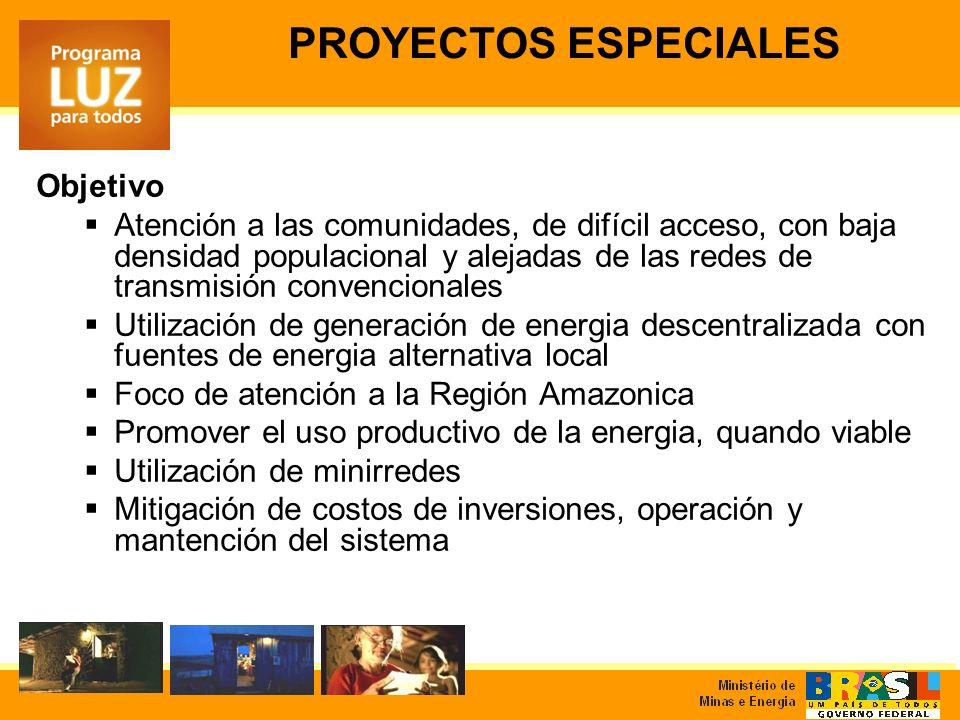 Objetivo Atención a las comunidades, de difícil acceso, con baja densidad populacional y alejadas de las redes de transmisión convencionales Utilizaci