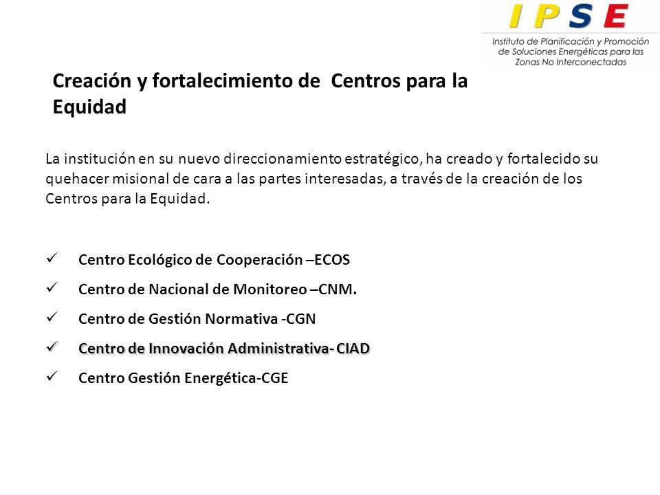 Centro Ecológico de Cooperación –ECOS Centro de Nacional de Monitoreo –CNM.