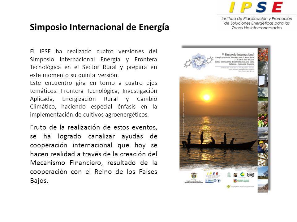 El IPSE ha realizado cuatro versiones del Simposio Internacional Energía y Frontera Tecnológica en el Sector Rural y prepara en este momento su quinta versión.