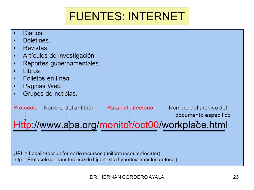 DR.HERNAN CORDERO AYALA23 FUENTES: INTERNET Diarios.