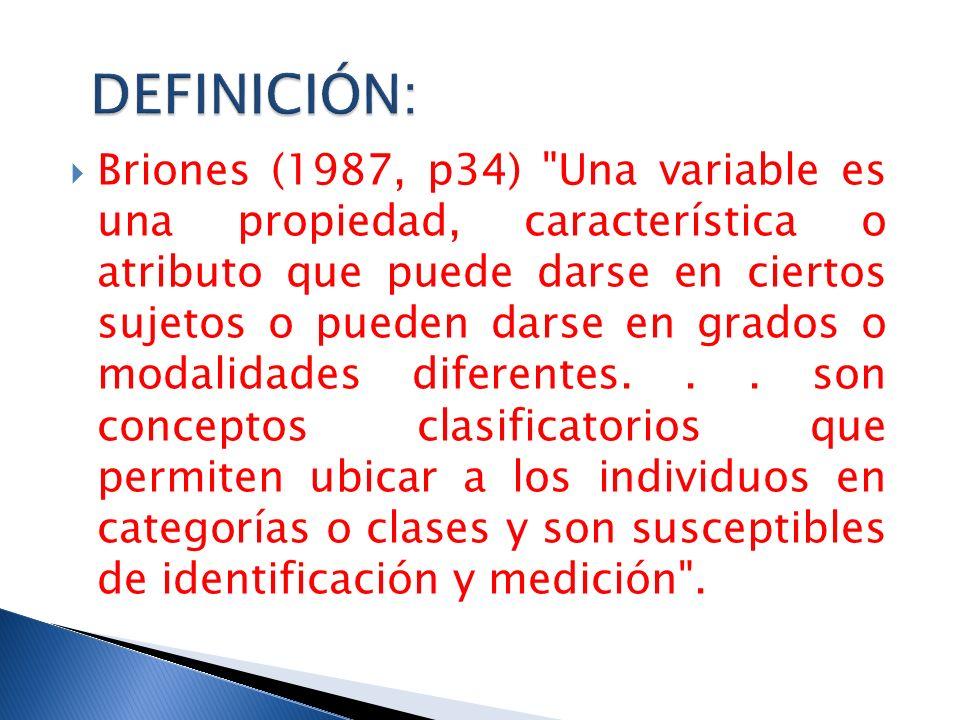 Briones (1987, p34)