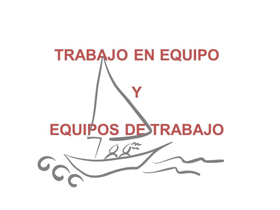 TRABAJO EN EQUIPO Y EQUIPOS DE TRABAJO