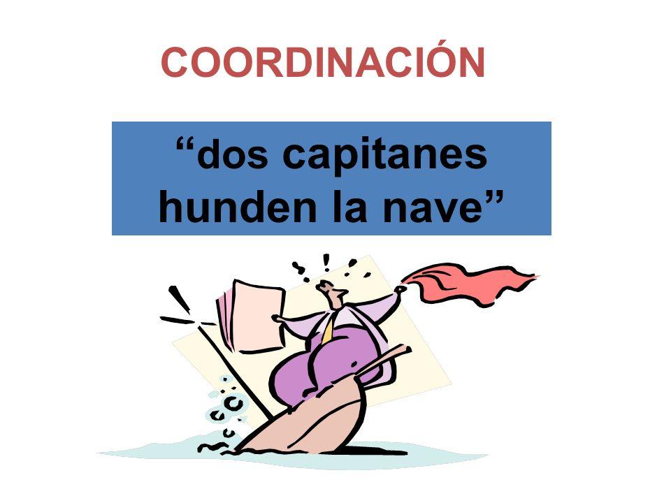 dos capitanes hunden la nave COORDINACIÓN