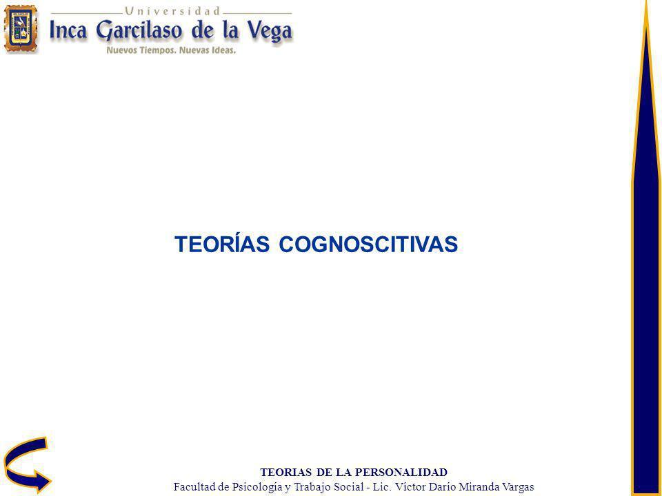 TEORIAS DE LA PERSONALIDAD Facultad de Psicología y Trabajo Social - Lic. Víctor Darío Miranda Vargas TEORÍAS COGNOSCITIVAS
