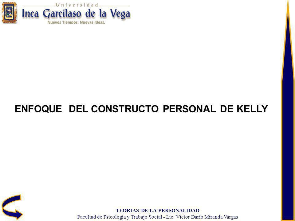TEORIAS DE LA PERSONALIDAD Facultad de Psicología y Trabajo Social - Lic. Víctor Darío Miranda Vargas ENFOQUE DEL CONSTRUCTO PERSONAL DE KELLY
