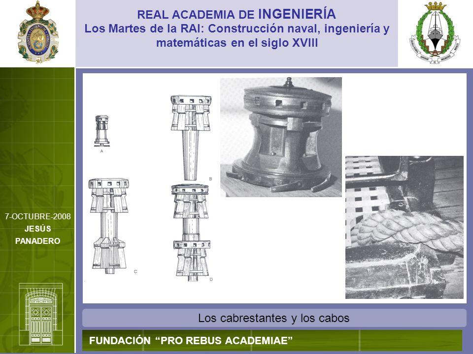 Los cabrestantes y los cabos REAL ACADEMIA DE INGENIERÍA FUNDACIÓN PRO REBUS ACADEMIAE Los Martes de la RAI: Construcción naval, ingeniería y matemáti
