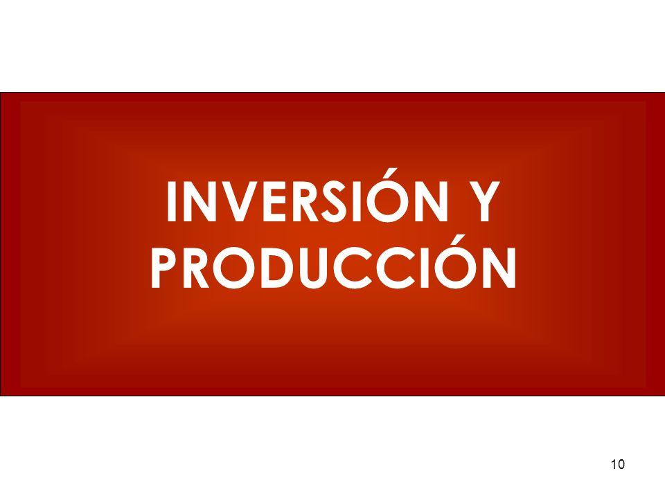 10 INVERSIÓN Y PRODUCCIÓN