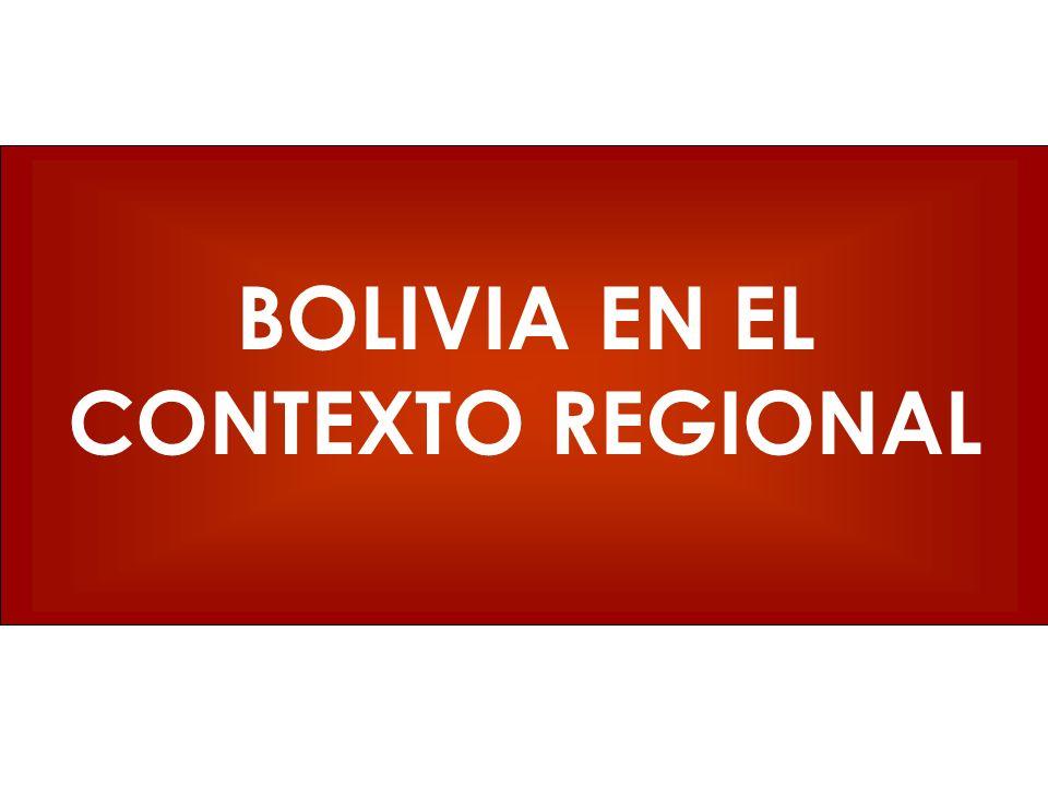 BOLIVIA EN EL CONTEXTO REGIONAL