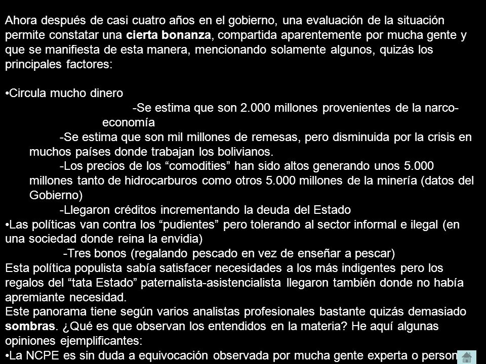 Bolivia país de mestizos.– Willi Noack – 25.1.2008 ¿Por qué es justificado insistir en este tema.