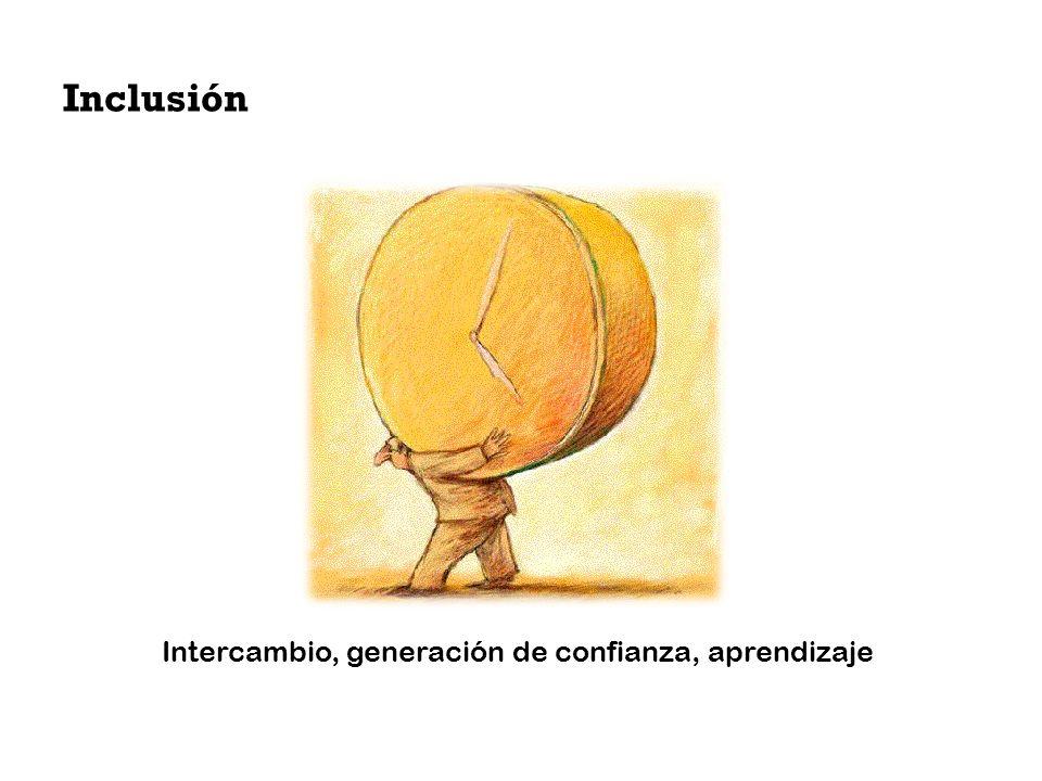 Inclusión Intercambio, generación de confianza, aprendizaje