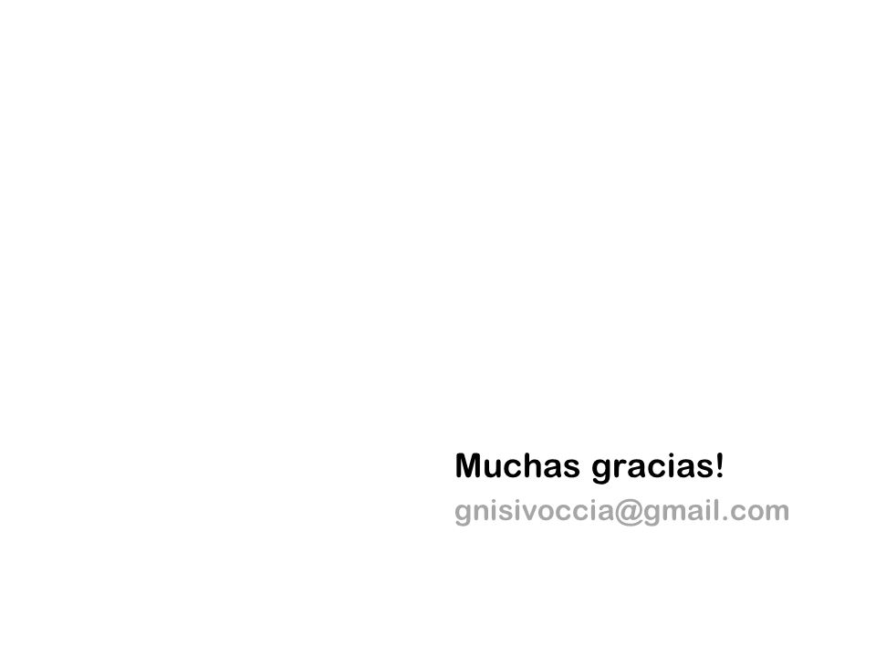 Muchas gracias! gnisivoccia@gmail.com