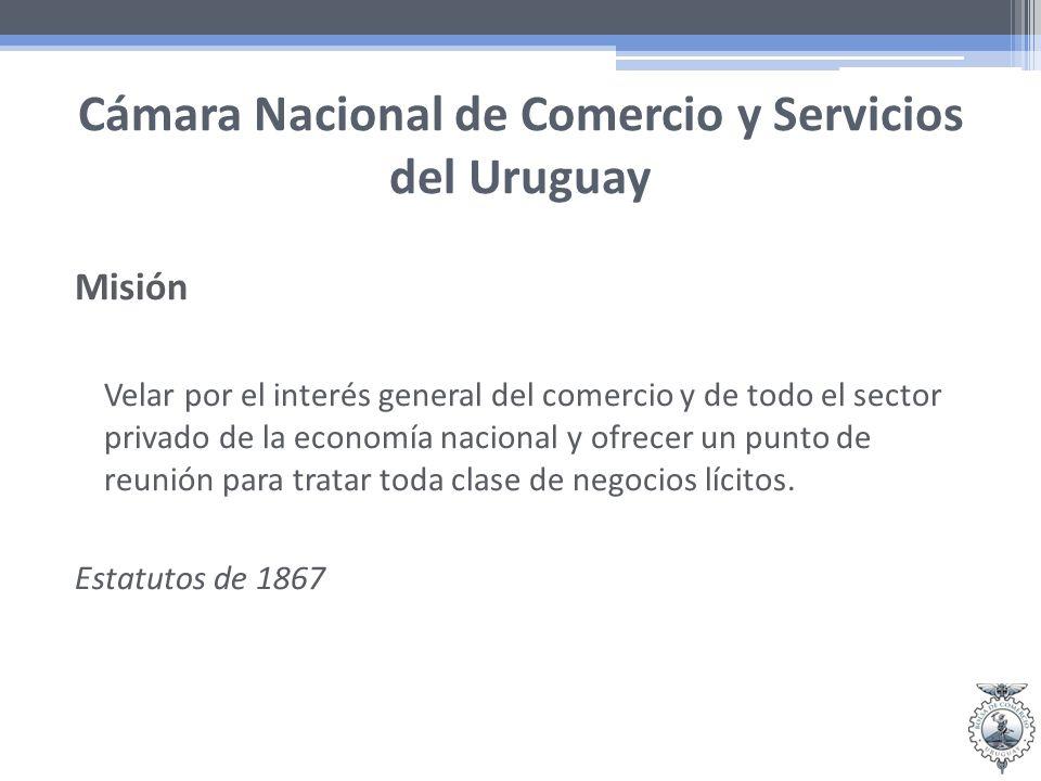 Cámara Nacional de Comercio y Servicios del Uruguay Principios y Valores Libertad Competencia leal Ética Formación Representatividad Más de 15.000 empresas asociadas.