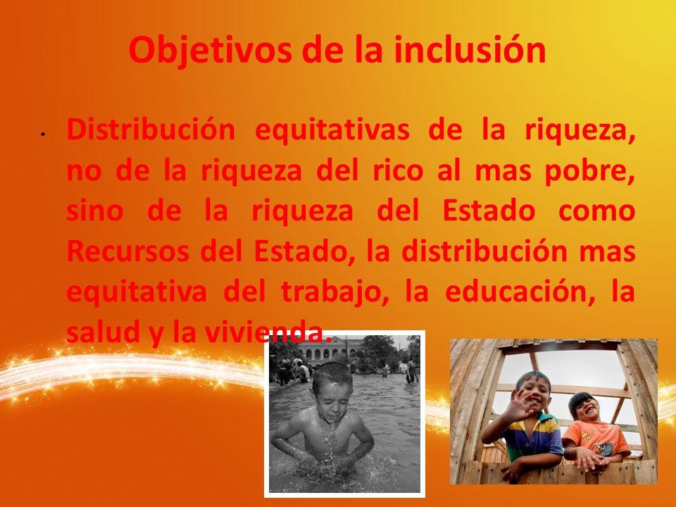 Exijamos a los Administradores, sean del Gobierno o de las Empresas: 1.- Que se incluyan en las Leyes artículos que garanticen, la inclusión social.