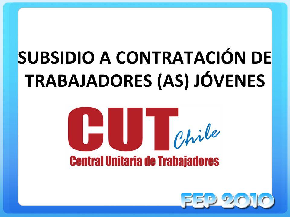 SUBSIDIO A CONTRATACIÓN DE TRABAJADORES (AS) JÓVENES