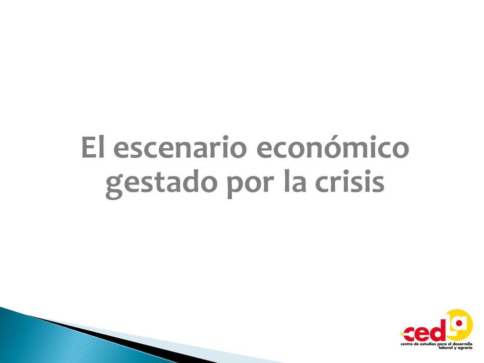 El escenario económico gestado por la crisis